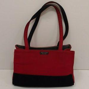 Kate Spade Bag Red Black White Checkered Needs TLC
